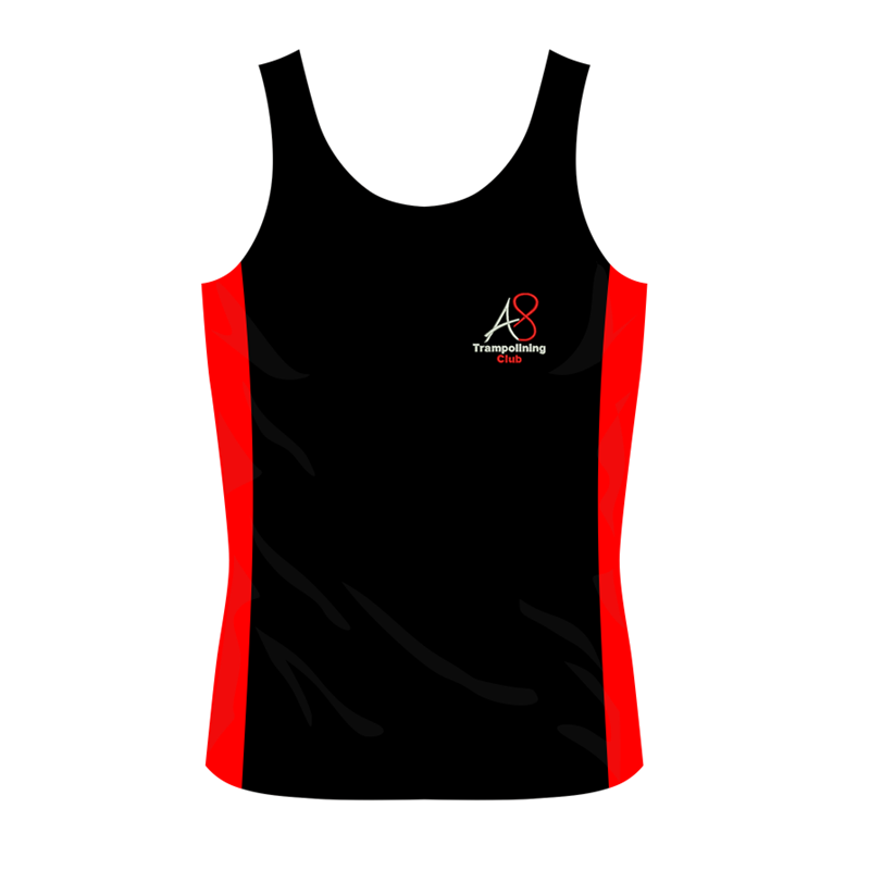 Activ8 Girls Cool Vest with logo to front and name to back