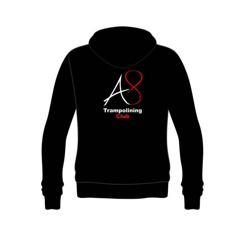 Activ8 Hooded Top in Black/Red with logo to back