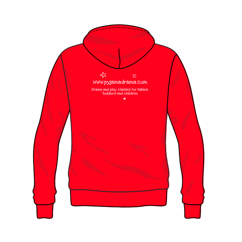 Zipped Hoodie printed Pyjama Drama logo front and back