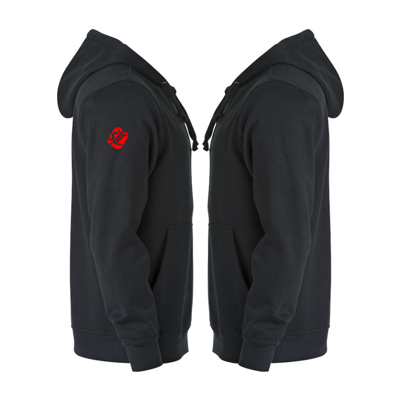 Hooded Sweatshirt printed TSA logo to front left breast. Sizes from Childs to Adults