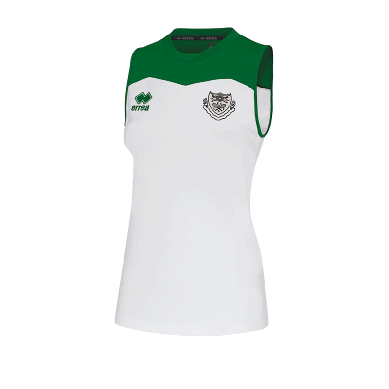 Polyester contrast slip, white with Green trim. Embroidered club logo to left breast and EALTS to the rear. Sizes Youths X Small to 4XL Adults.