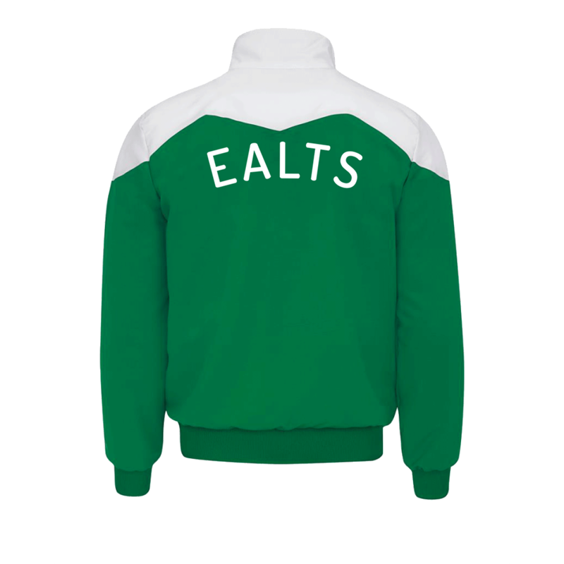 Poly/Cotton Full Zip Track Top, embroidered with club logo left breast and EALTS printed to rear. From Childs sizes to 4XL Adults.