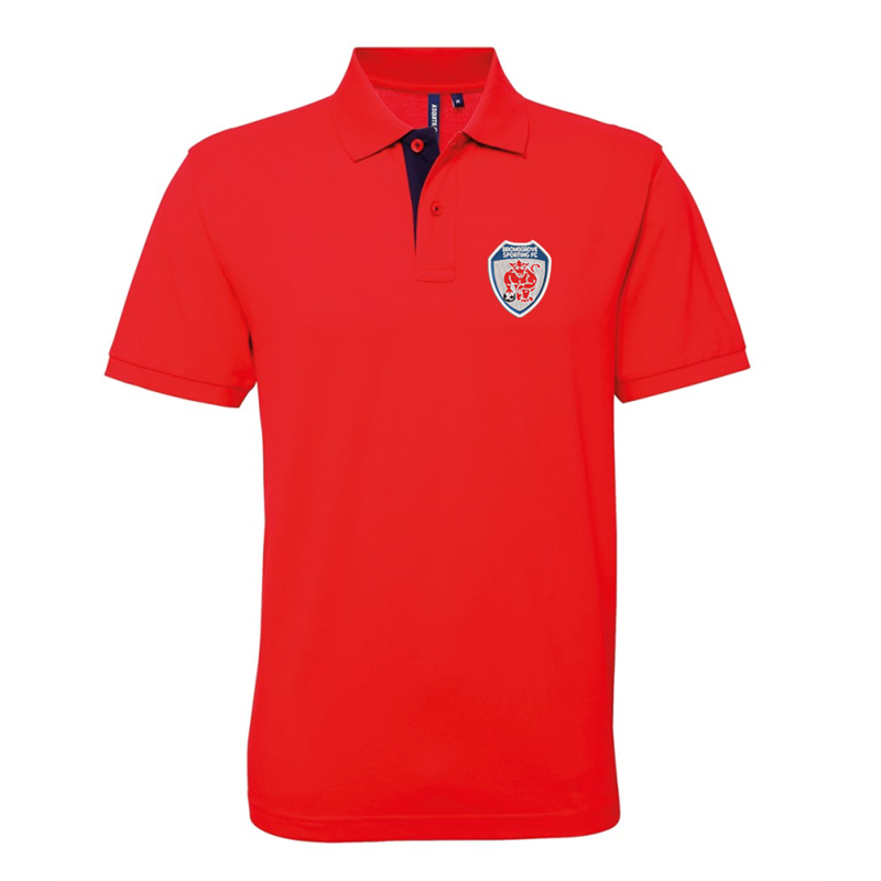 Premium quality Poloshirt embroidered Sporting logo.