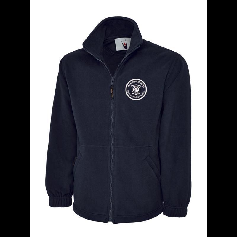 Full Zip Fleece Jacket embroidered with club logo