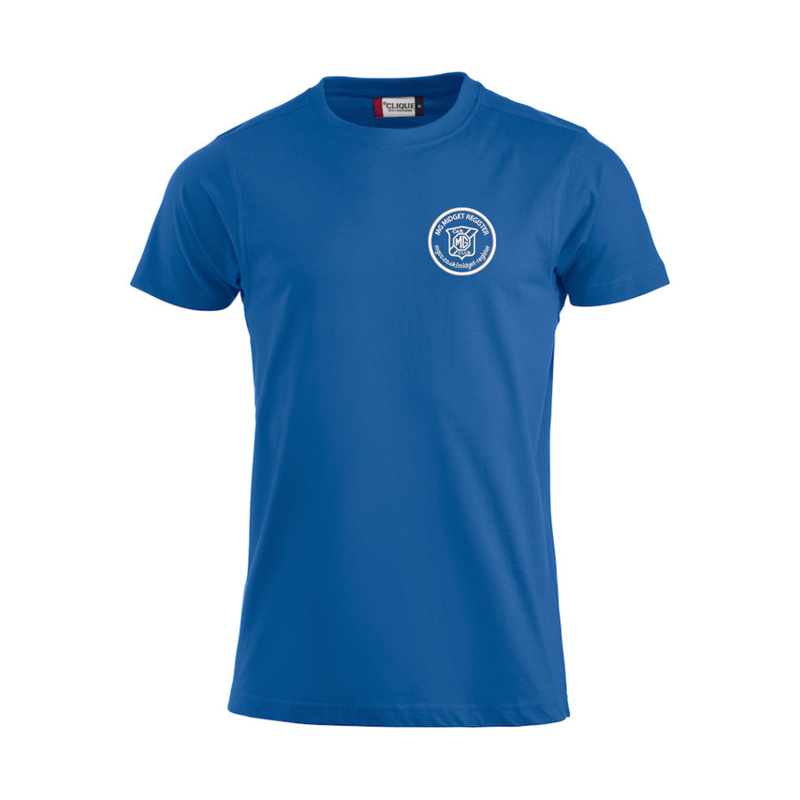 Cotton T Shirt with embroideRoyal Blue logo left breast
