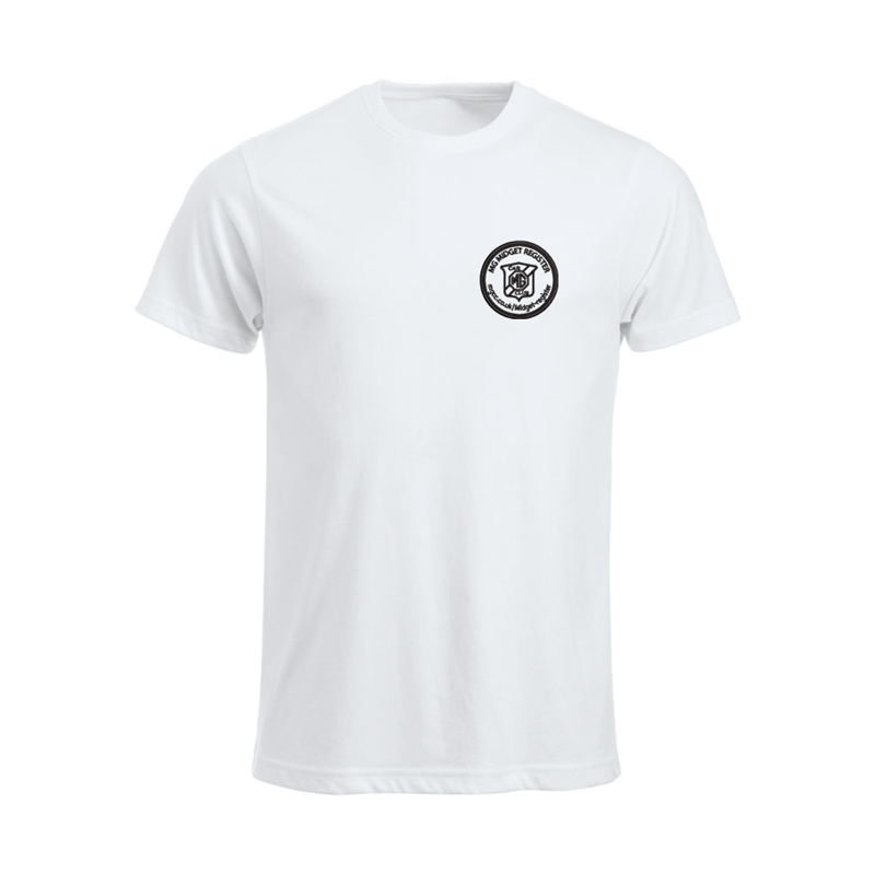 Cotton T Shirt with embroideWhite logo left breast
