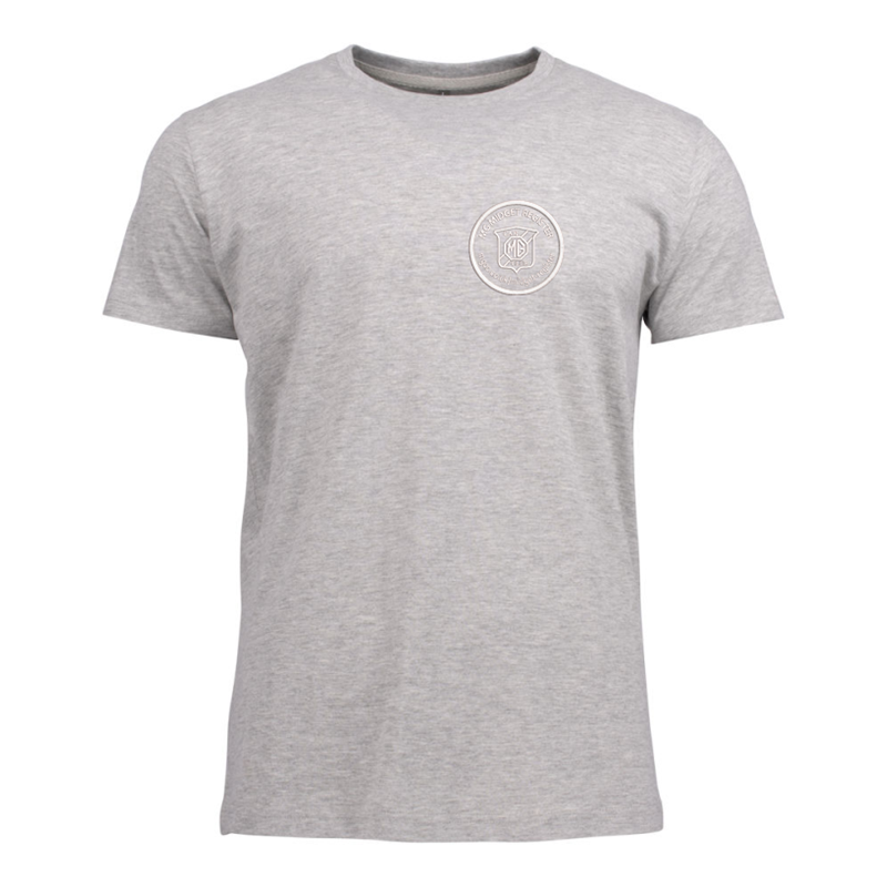 Cotton T Shirt with embroideHeather Grey logo left breast