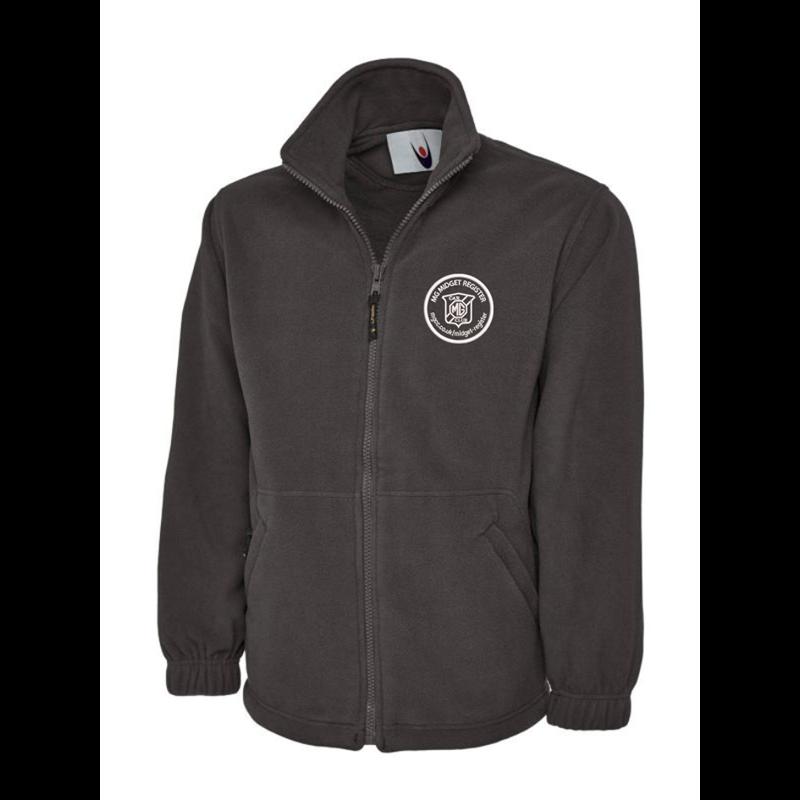 Full Zip Fleece Jacket embroideCharcoal with club logo