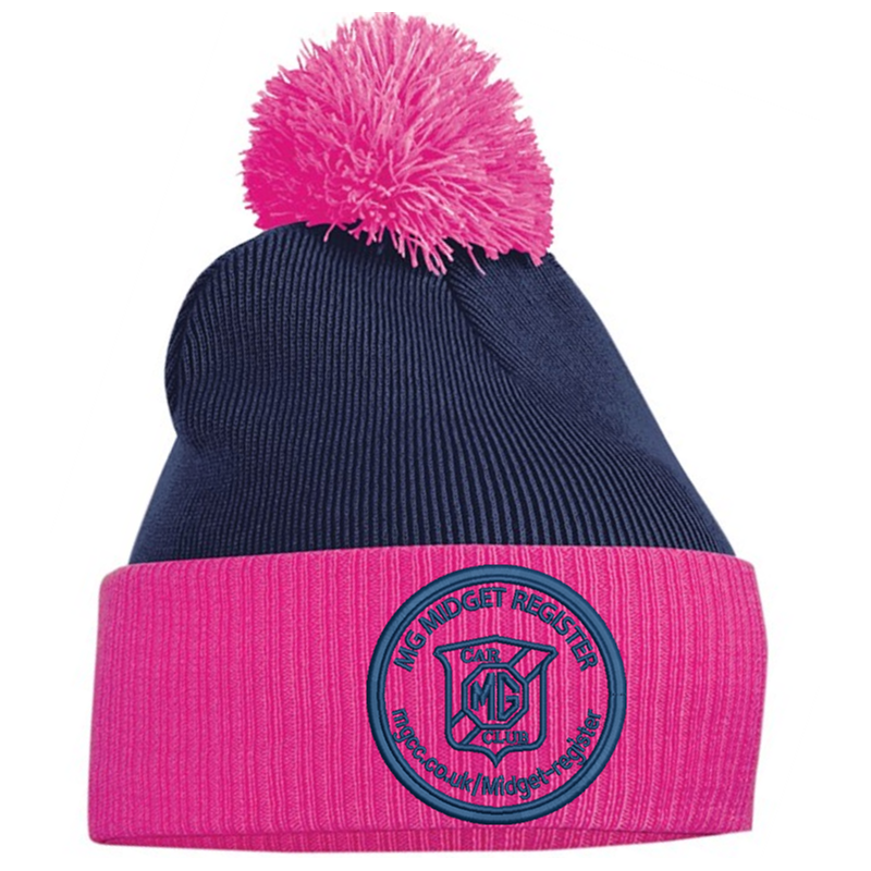 Double layer knitted contrast PomPom - With Club logo