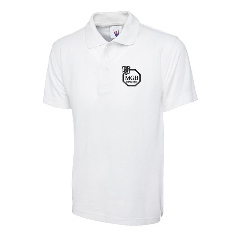 Polycotton Poloshirt embroidered logo left breast.