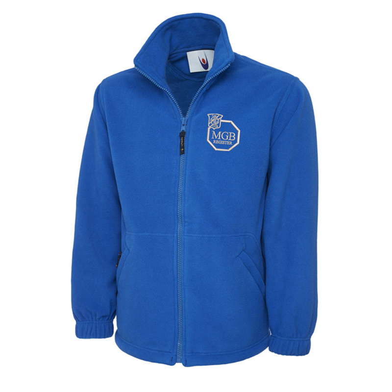 Full Zip Fleece Jacket embroideRoyal with club logo