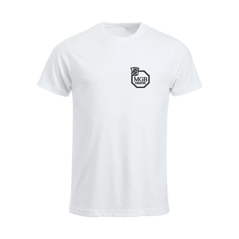 Cotton T Shirt with embroidered logo left breast