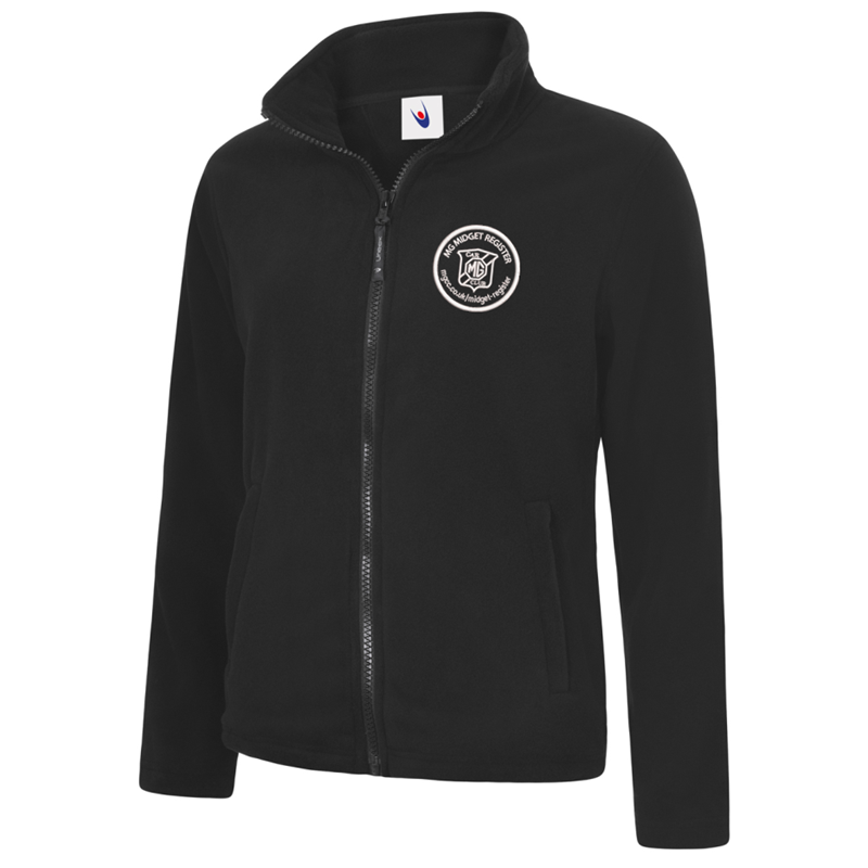 Full Zip Ladies Fleece Jacket embroidered with club logo