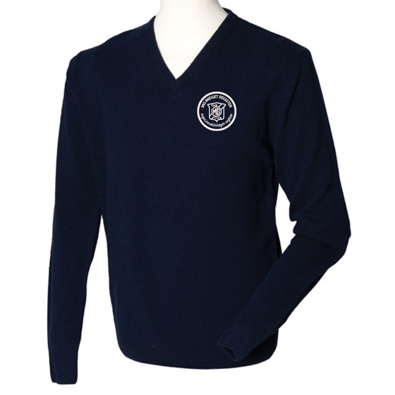 Woolmark® accredited. Semi fashioned neckline and armhole. 1x1 rib and cuffs. Machine washable with Woolmark approved detergents only. Jumper with embroidered logo left breast
