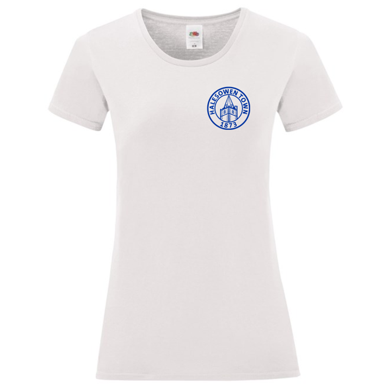 Cotton Lady Fit T Shirt with silicon print logo to left breast