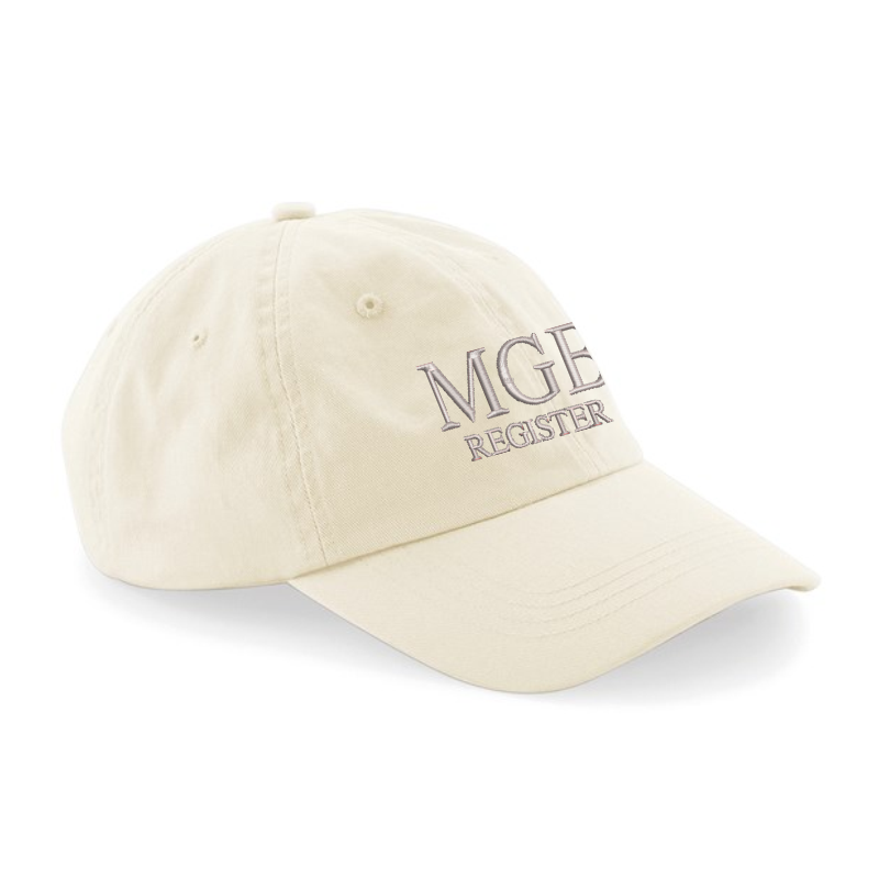 100% Chino cotton cap, embroidered logo to front