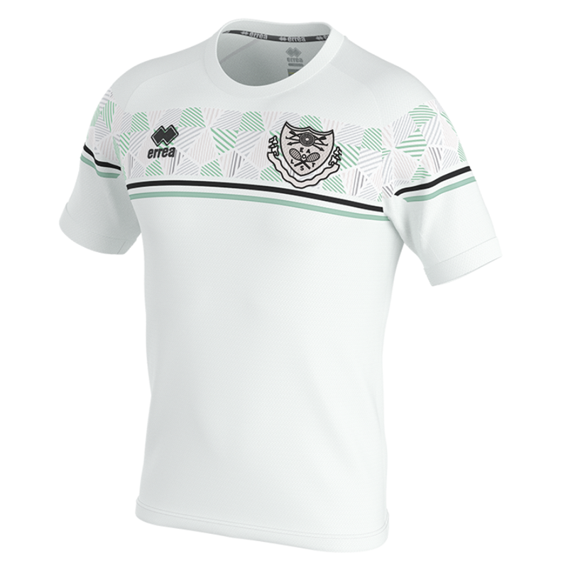 Polyester team shirt in white. Embroidered club logo to left breast and EALTS to the rear. Sizes Youths X Small to 4XL Adults.