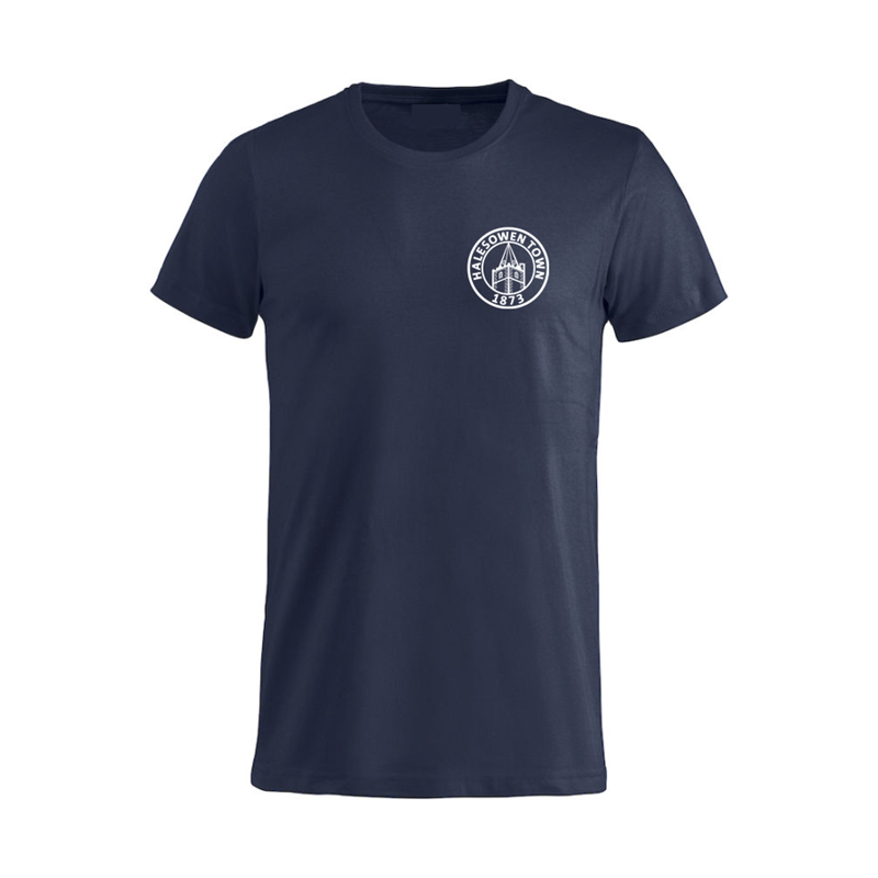 Cotton T Shirt with silicon print logo to left breast