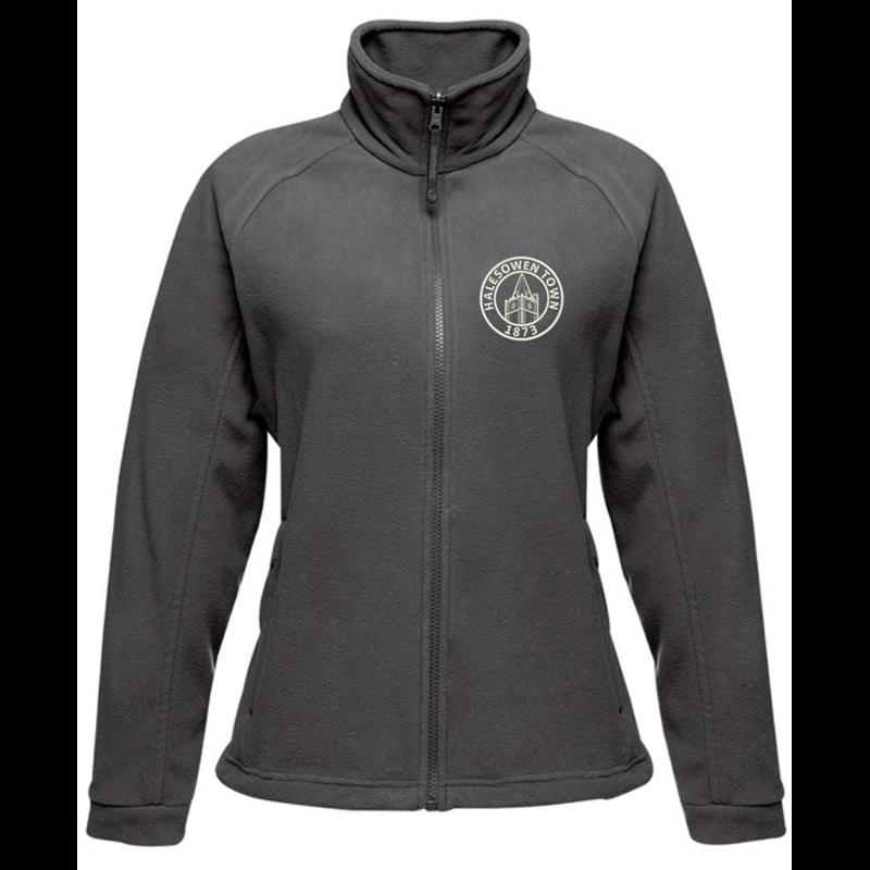 Full Zip Ladies Fleece Jacket embroideSeal Grey with club logo