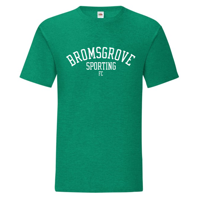 Premium Cotton T Shirt with Bromsgrove Sporting FC logo to front