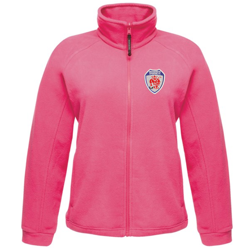 Full Zip Ladies Fleece Jacket embroidered with club logo