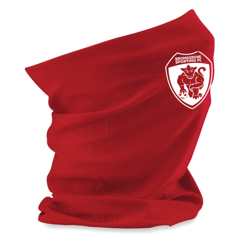 Breathable multi use snood printed with club logo