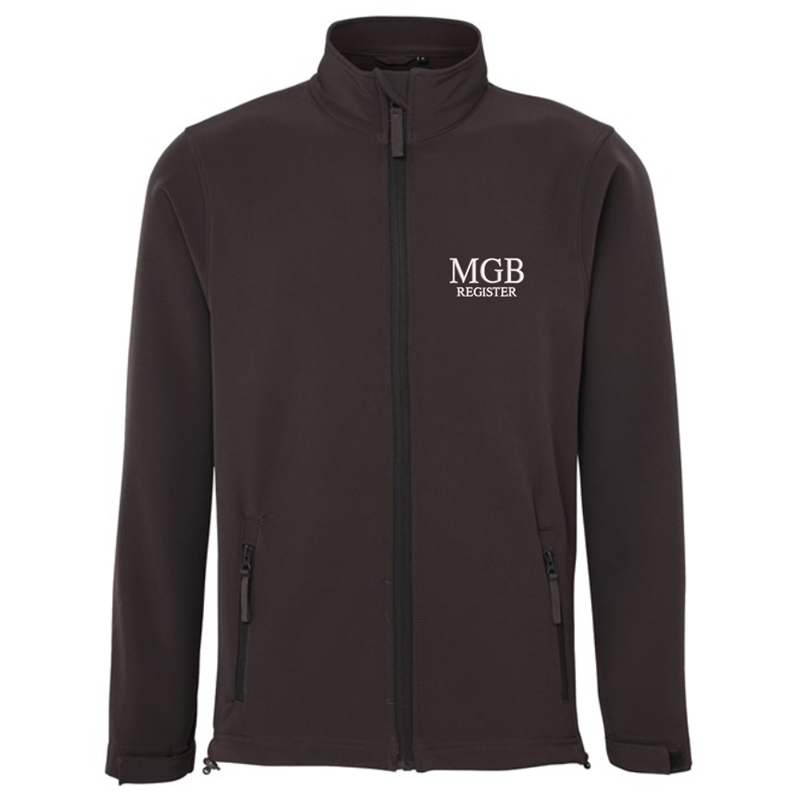 3 Layer Waterproof fleece lined soft shell jacket, with logo embroidered to front.