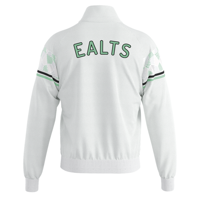 Polyester Track Top in white. Embroidered club logo to left breast and EALTS to the rear. Sizes Youths X Small to 4XL Adults.