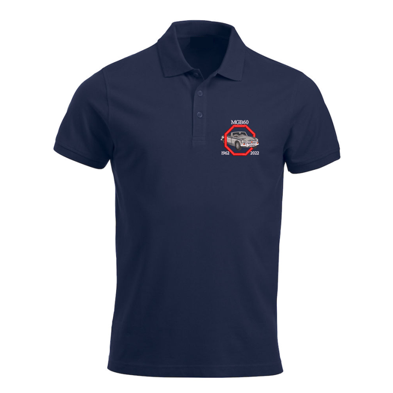 Polycotton Poloshirt embroidered MGB60 logo left breast.