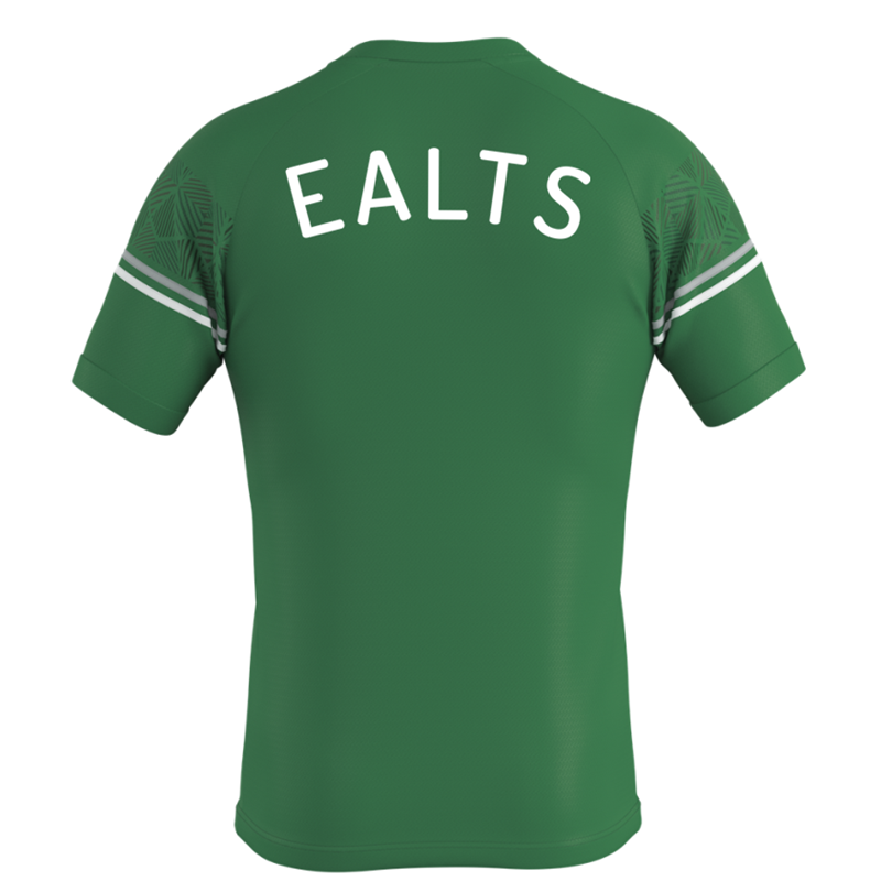 Polyester team shirt in green. Embroidered club logo to left breast and EALTS to the rear. Sizes Youths X Small to 4XL Adults.