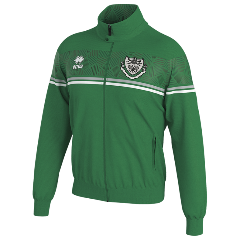Polyester Track Top in green. Embroidered club logo to left breast and EALTS to the rear. Sizes Youths X Small to 4XL Adults.
