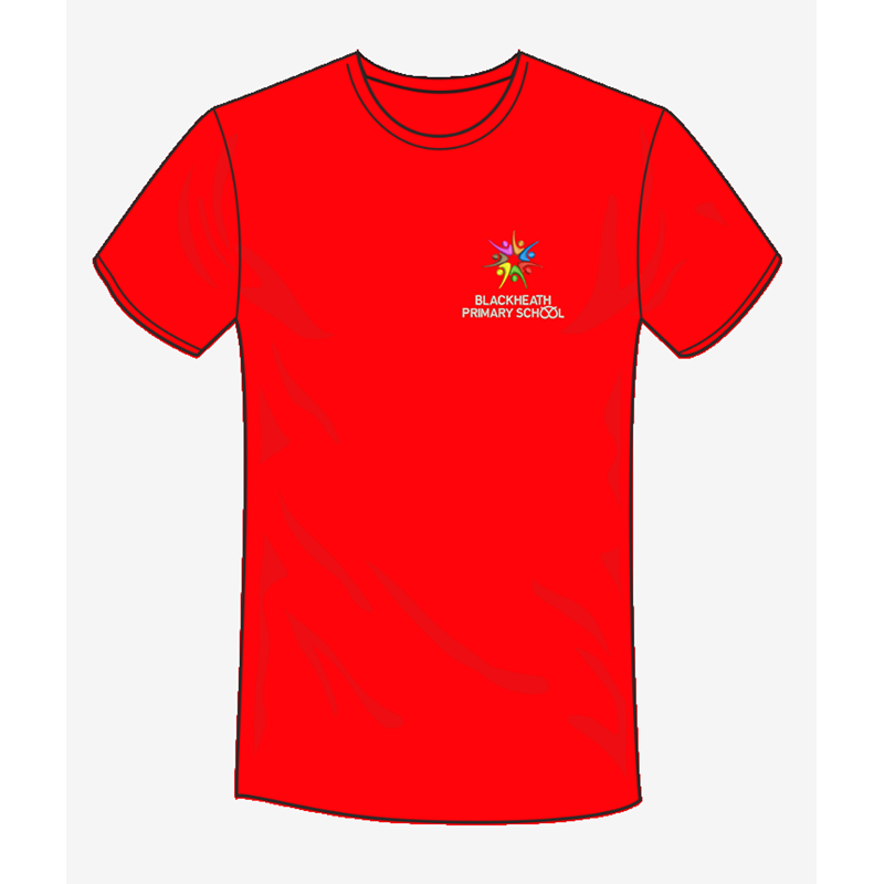 School T Shirt with embroidered logo