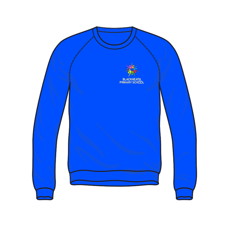 School sweatshirt embroidered logo to left breast
