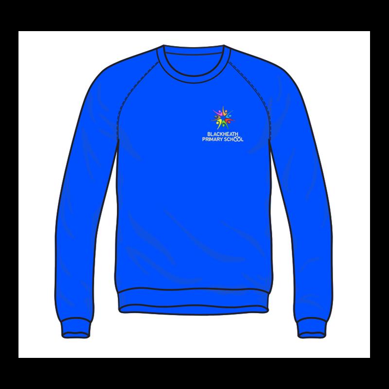 School sweatshirt embroidered logo to left breast