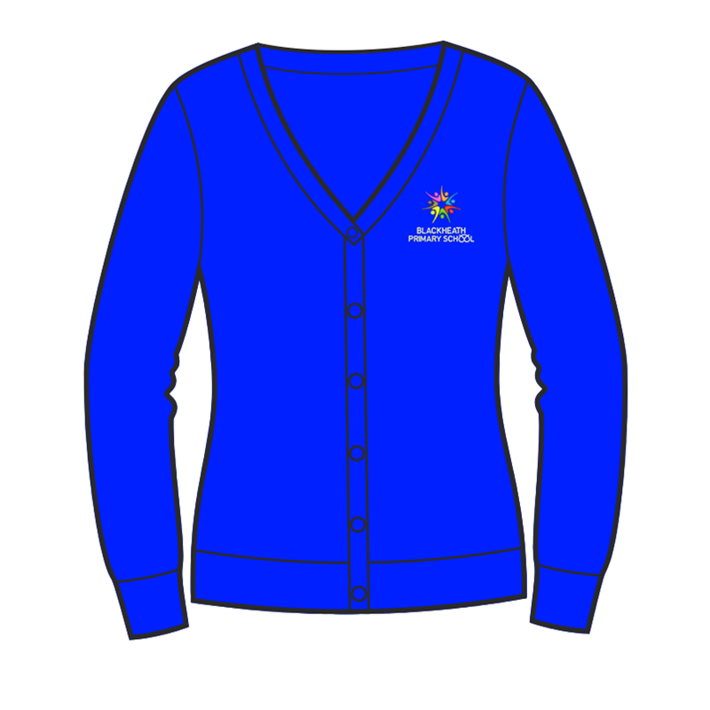 School Cardigan embroidered logo to left breast