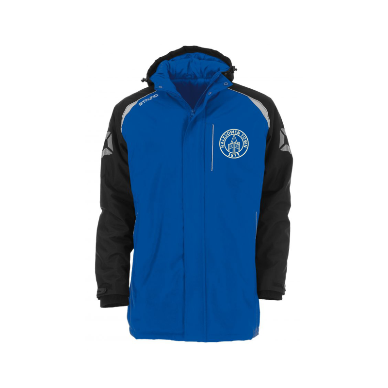 Halesowen Town FC Coach Jacket, embroiderd official club logo to left breast.
