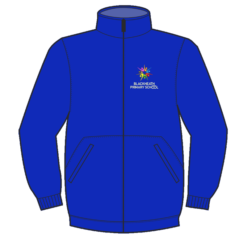 School Fulll Zip Fleece Jacket embroidered logo to left breast
