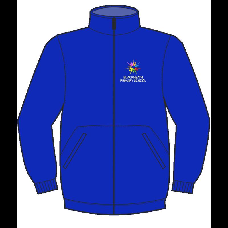 School Fulll Zip Fleece Jacket embroidered logo to left breast