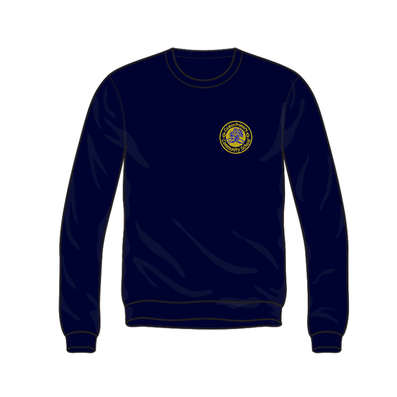 Caslon School Crew Neck Sweatshirt in navy, embroidered logo