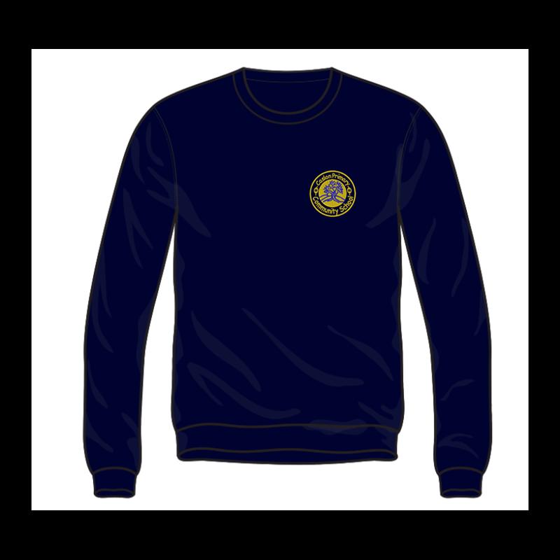 Caslon School Crew Neck Sweatshirt in navy, embroidered logo