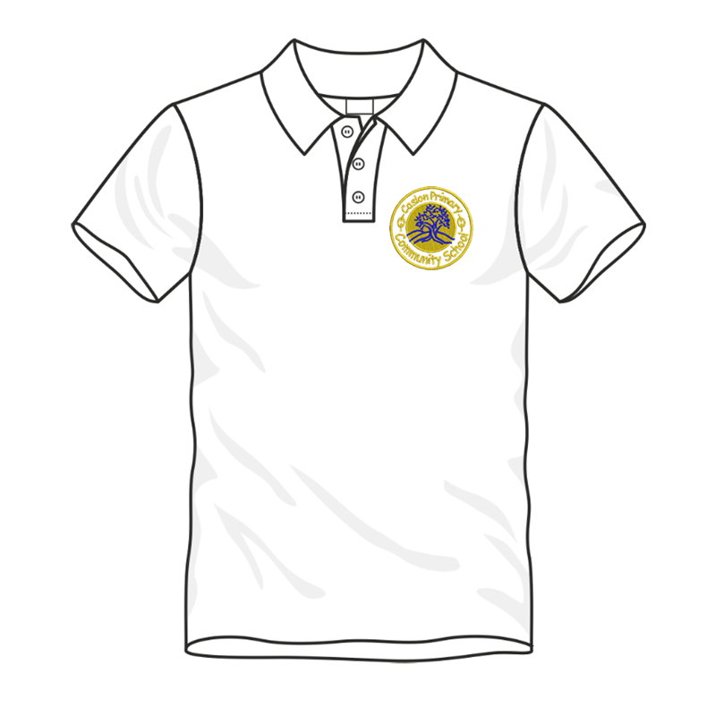 Caslon School Poloshirt in white, embroidered logo