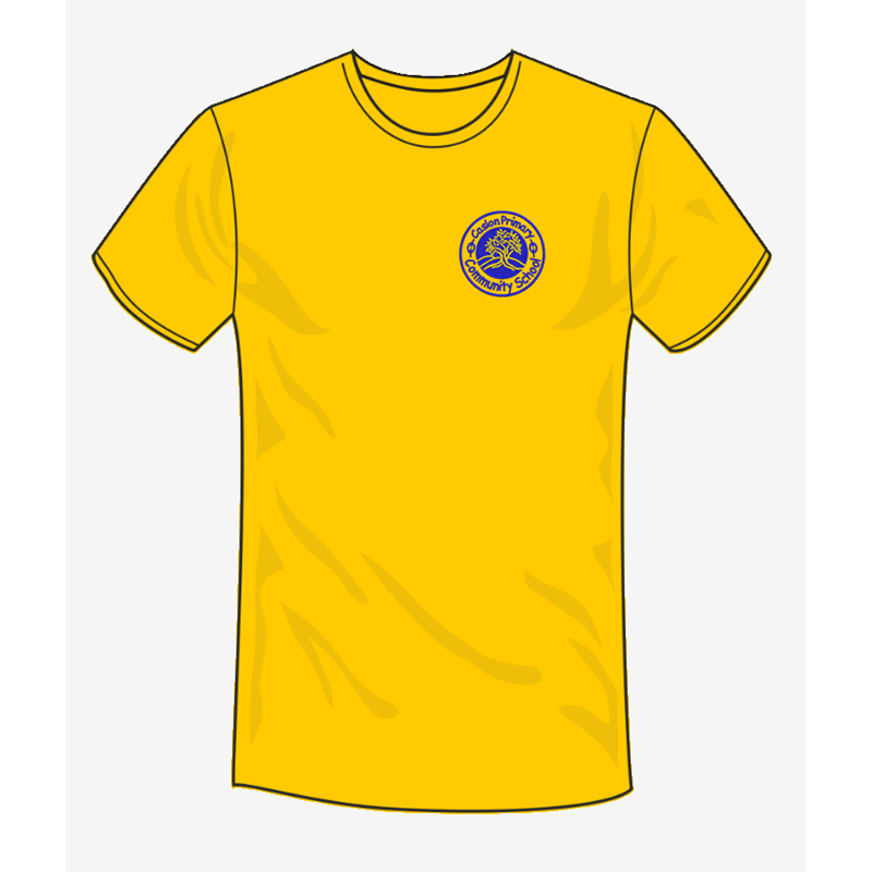 Caslon School T Shirt in sunflower, embroidered logo
