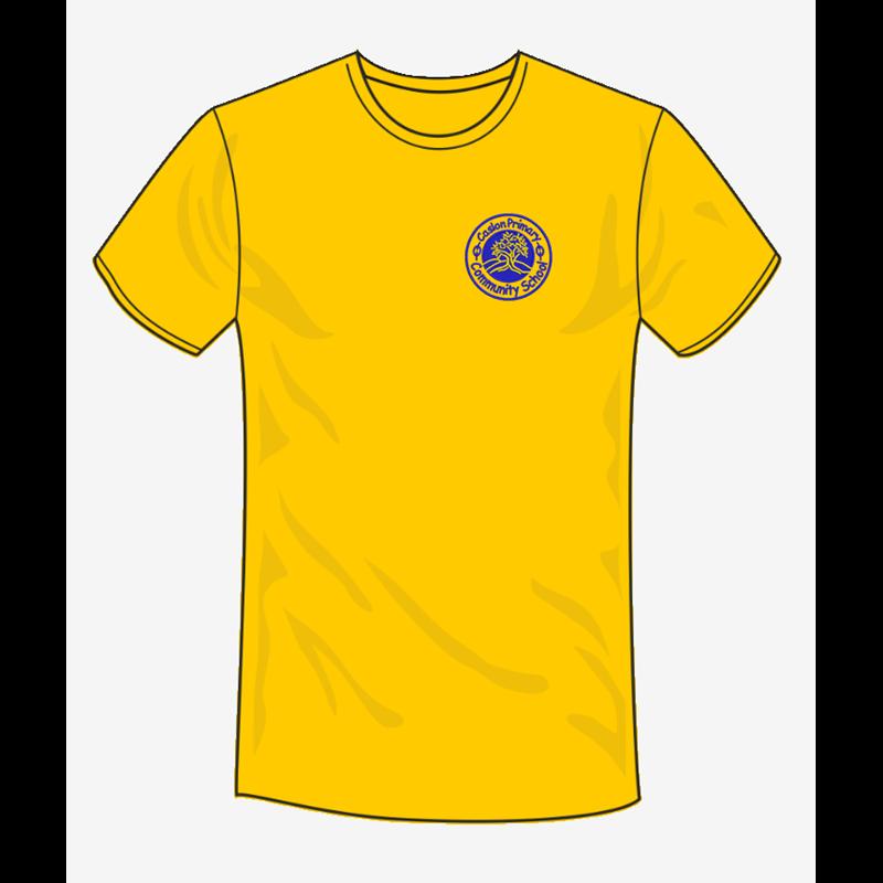 Caslon School T Shirt in sunflower, embroidered logo