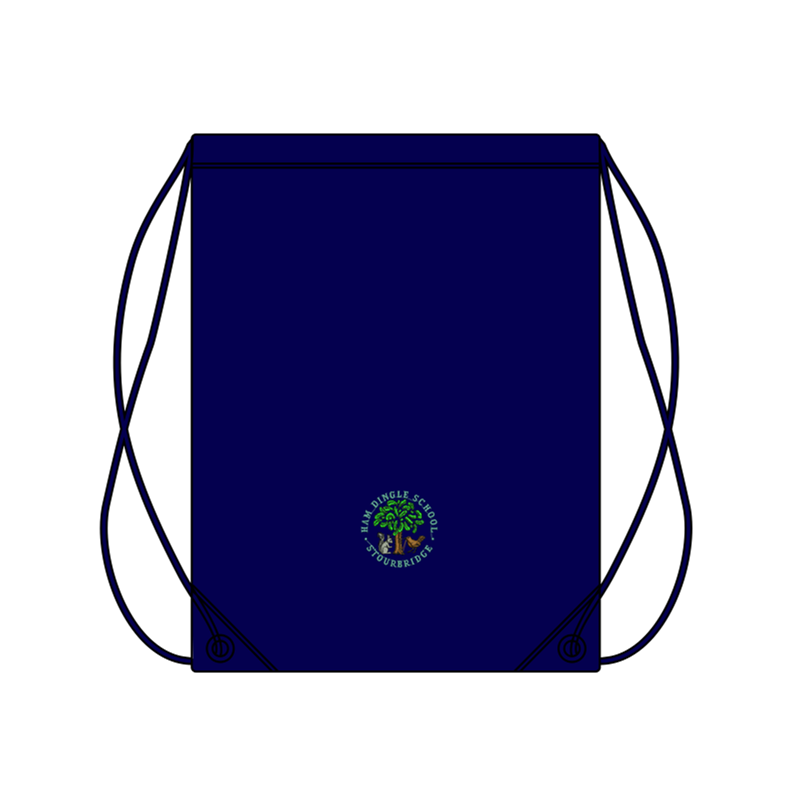 Gym bag woth School logo embroidered