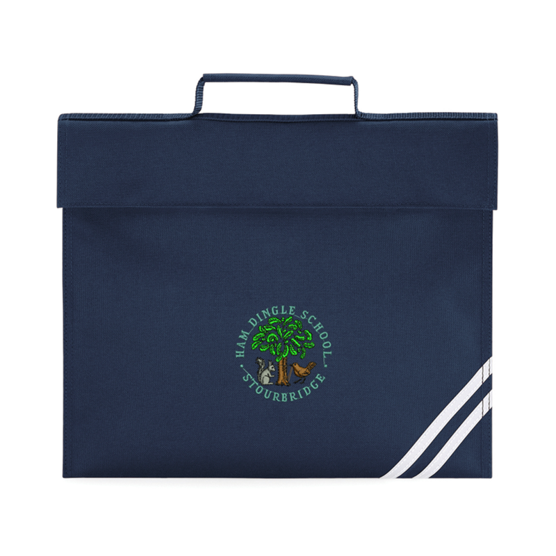 Book Bag in Navy with School logo embroidered