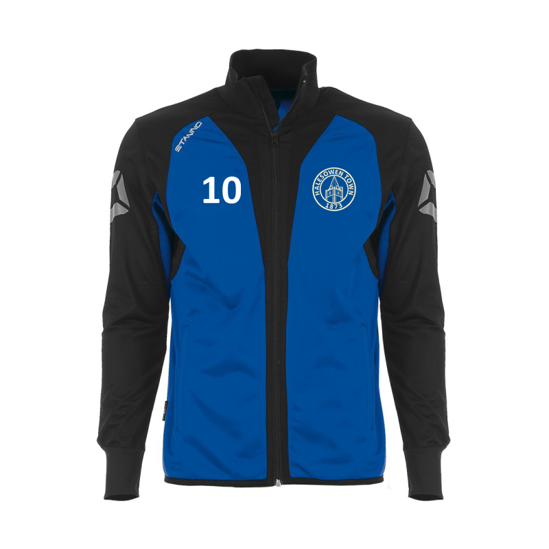 Academy Tracksuit Top with HTFC embroidered logo and printed number