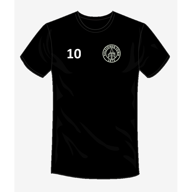 Academy Training T with HTFC embroidered logo and printed number