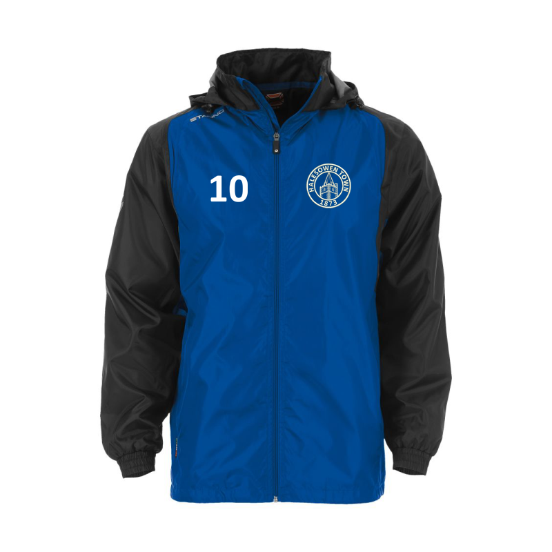 Academy Windbreaker with HTFC embroidered logo and printed number