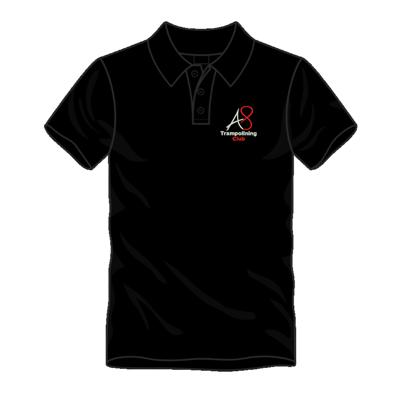 Activ8 Cool Polo in Black, logo to the front