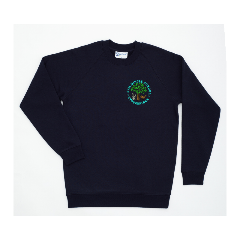 Crew Neck Sweat embroidered school logo to left breast